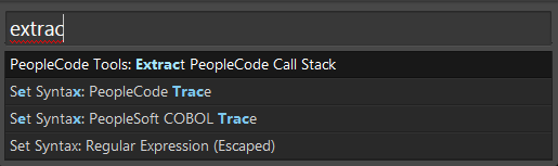 Extract PeopleCode Call Stack - Run